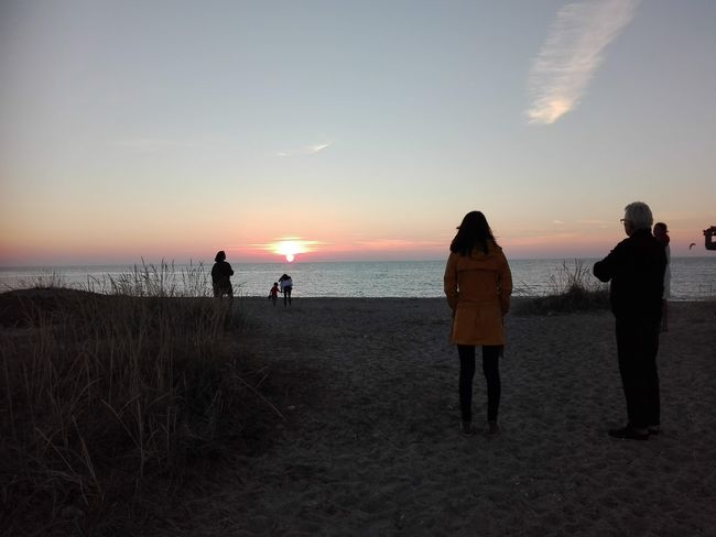 Sunset at Gilleleje Beach on the island of Zealand in Denmark - Sea Hav Sky Himmel Beach People People Watching Sunset Summer Danish Gilleleje, Gilleleje Beach Sjælland Zealand Island Danmark Denmark Coast