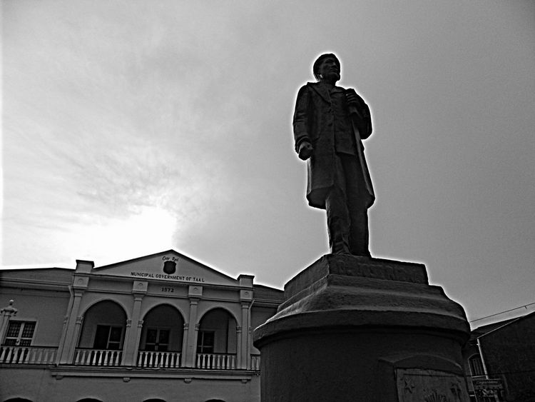 Once upon a time in Taal. Way Of Life EyeEm Best Shots Eye4photography  EyeEm Best Shots - Black + White Black And White Eyeemphotography Streetlife Blackandwhite Photography Eyeem Philippines Statues And Monuments Local Town Taal Batangas