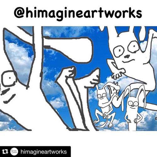 @himagineartworks はじめました。心に従いひたすら落書きをするのみ笑 H_imagineartworks Himagine イラスト 落書き 手書き ひまじん