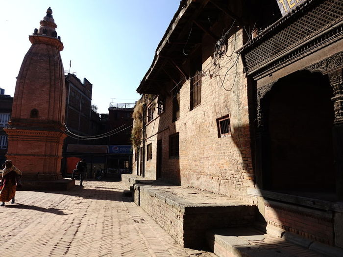 View of old buildings in city