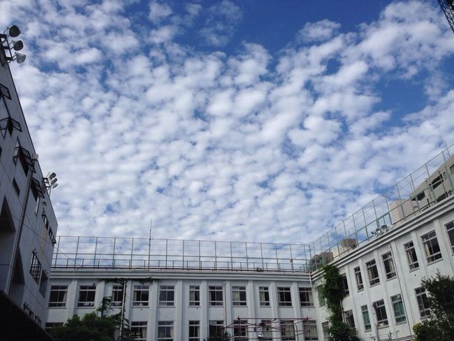 Architecture Building Exterior Built Structure Window Sky Low Angle View Cloud - Sky Day Nature Cloudscape Clouds And Sky Architecture