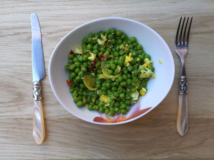 Peas with egg Cuisine Day Delicious Egg Food And Drink Fork Freshness Healthy Eating Peas Plate Ready-to-eat Traditional Culture Vegetable
