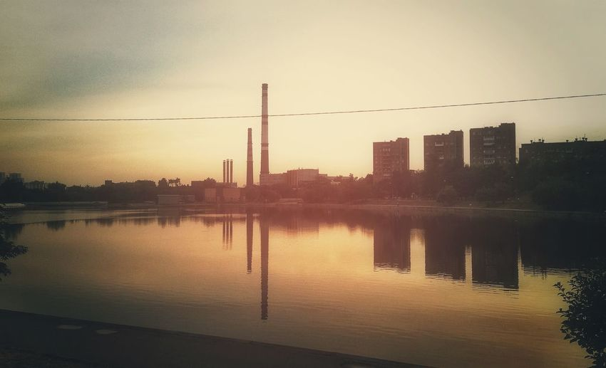 Found some photos on an old phone Water Reflections Pipes Urbanphotography Urban Skyline Urban Landscape Sky Architecture Sunset Built Structure Water Reflection City Nature Building Exterior Building No People Waterfront Silhouette Tranquility Skyscraper