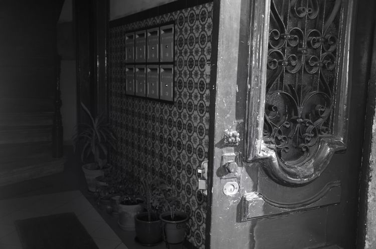 Old Buildings Lisbon Lisboa No People Door Architecture Day Black And White Blackandwhite Monochrome Architecture Sun Letterbox Light And Shadow