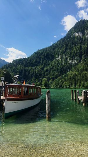 Königsee Nature Water Transportation Nautical Vessel Tree Sky River Mode Of Transport Scenics Beauty In Nature Outdoors Day No People Mountain Germany Wanderlust Travel Traveling Nature_collection Nature Photography