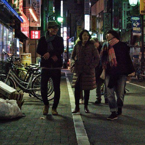Winter People Snapshot Snapshots Of Life On The Road City Life City Street Streetphotography Nightphotography Night Kichijoji 吉祥寺 , Tokyo Japan