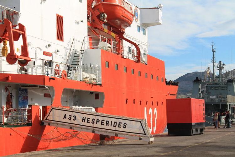 Hesperides VII Spanish Navy Armada Española BIO Hesperides Hesperiden Gardens Biology Antartic Expeditio Boat Boats Boat Deck Sea Sea Life Spaın Shipping  Day Outdoors No Filter No Filter, No Edit, Just Photography