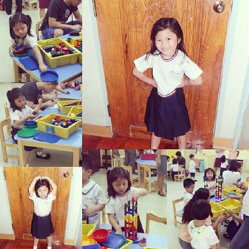 1st day high! Backtoschool Nursery Grace