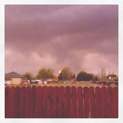 First Rain of Year Springisofficiallyhere spring lubbock texas equinox clouds fence horizon weather