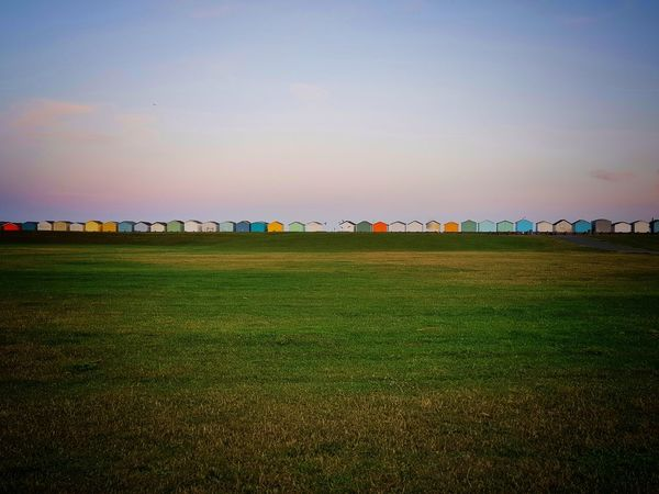 Multi Colored Sky Grass Landscape Nature Outdoors Scenics No People Beachlife Beachhuts Lancing