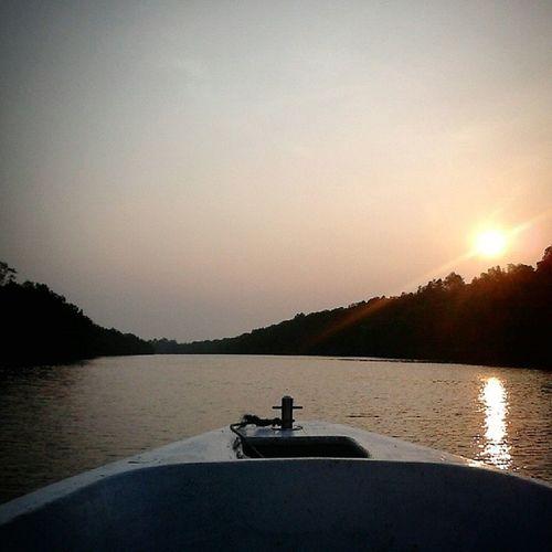 Fishing trip! Fishing Boat Sunset Sepang lukut rumahrakit