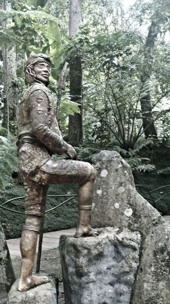 Statue Standing Man StandingBravery Brave Braveheart Tribe Tribal Eden Garden Davao City Davao Davao City, Philippines Nature