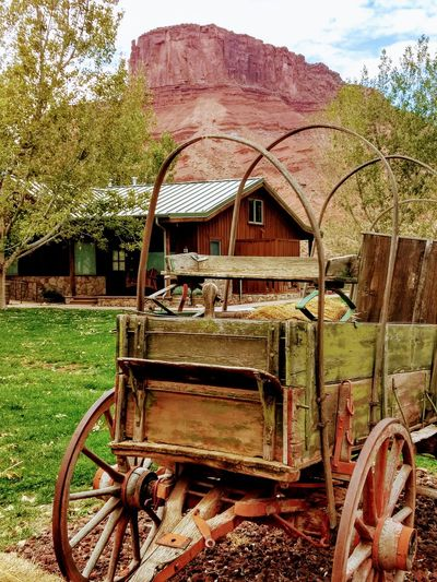 Old Western Wagon Old West  Outdoors Photograpghy  Vacation Destination Sorrel River Ranch Resort And Spa Moab  Moab, Utah Recreation  Outdoors Horse Drawn Wagon Horse Cart Agriculture Wagon Wheel Carriage