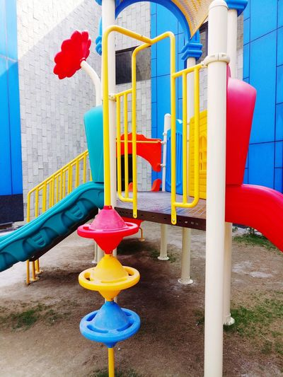 EyeEm Selects Multi Colored Red Playground Outdoor Play Equipment No People Day Childhood Outdoors Close-up Playground Slide Playground Equipment