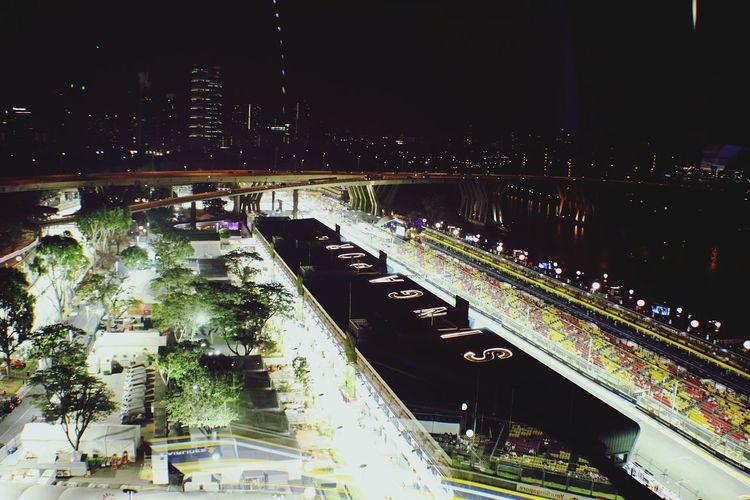 Singapore Night Lights Singaporegp F1 Streetrace Cityscapes