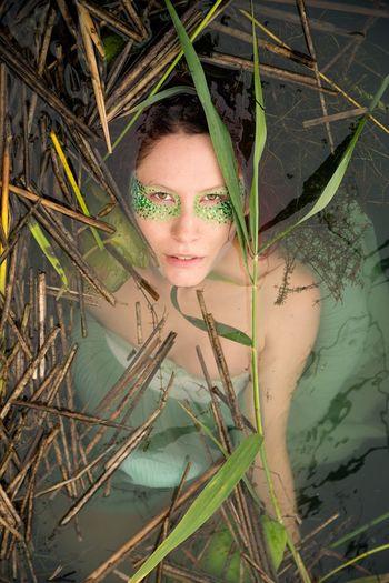Seeing. Nymph Siren Water Waterlilies Portrait Portrait Of A Woman Portrait Photography Redhead Lake Vegetation Nikond600 Nikonphotography Tamron2470 Showcase July