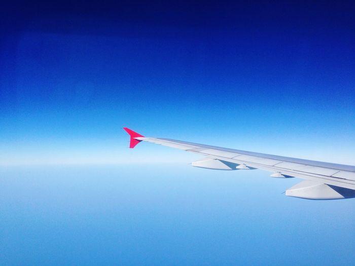 Cobalt Blue By Motorola From An Airplane Window