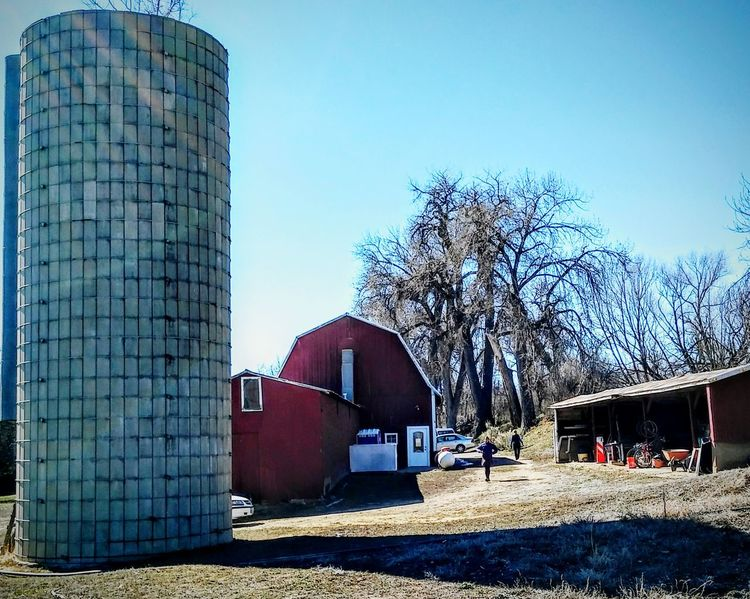 Farm life Country Life Enjoying Life American Dream Outdoor Photography Colorful Colorado Colorado Times Small Town Life American Life Colorado Photography Farm Equipment Happy Day☺ Farm House Red Barn Winter Morning USA Photos EyeEm silo Rural America Here Belongs To Me