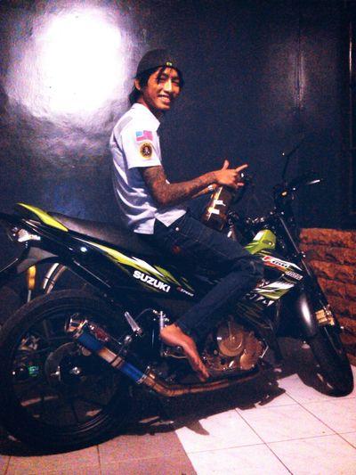 That's Me Self Portrait Suzuki Motorcycle Enjoying Life Smile Enjoying Drinks !! Enjoy Home Sweet Home Home
