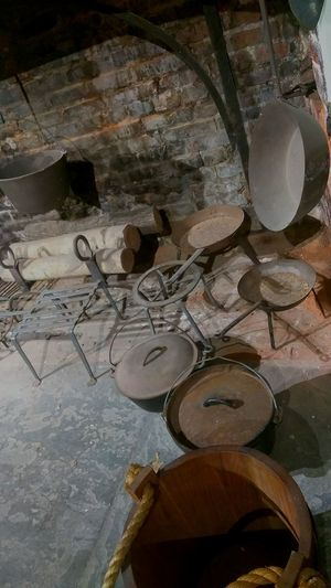 historic hearth. photo by Shell Sheddy Documentary Photography Shellsheddyphotography Sheshephoto The Photojournalist - 2018 EyeEm Awards Hearth Historic Kitchen Utensil Pan Pots Close-up