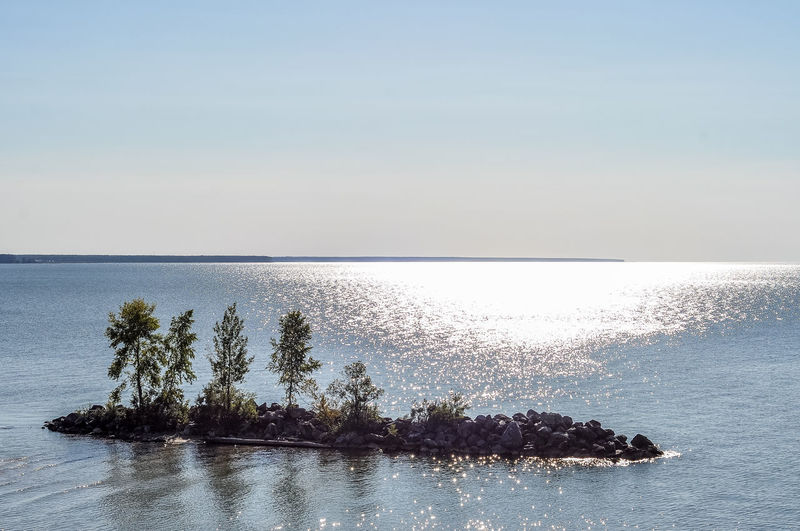 Beach Beauty In Nature Day Horizon Horizon Over Water Idyllic Land Nature No People Outdoors Plant Reflection Scenics - Nature Sea Sky Tranquil Scene Tranquility Tree Water Waterfront