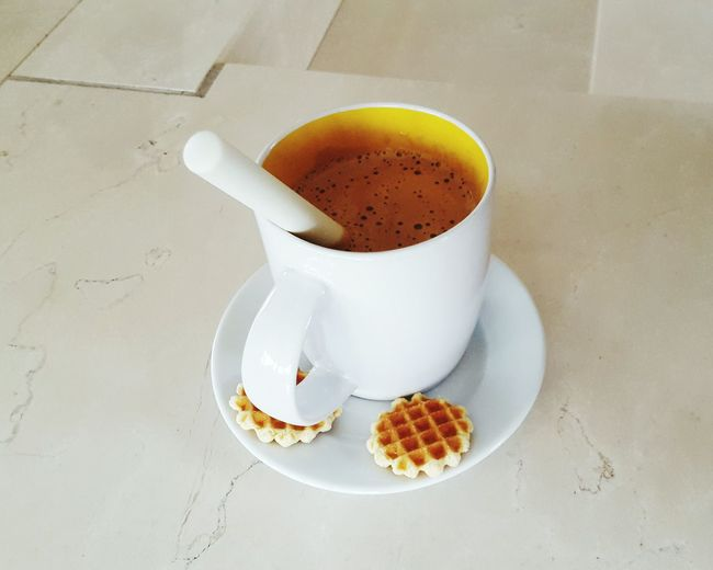 relax Waffle Drink Coffee - Drink Plate Coffee Cup High Angle View Tea - Hot Drink Close-up Sweet Food Hot Drink Mocha Sugar Spoon Cappuccino Latte Served Hot Chocolate Teaspoon