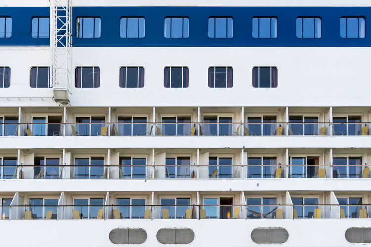 In A Row Repetition Large Group Of Objects Full Frame Building Exterior Built Structure Ship Cruise Ship Travel Architecture Close-up Mode Of Transportation Backgrounds No People Building Balcony Parallel Window Side By Side Transportation Vacations Leisure Activity Relaxation Day Outdoors Textured  Moored Cruise Boat Nautical Vessel