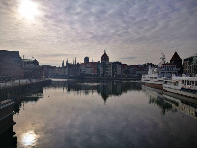 Gdansk Gdańsk. Gdansk, Poland Reflection Cityscape Water Cloud - Sky City Sky Sunset Travel Destinations Urban Skyline