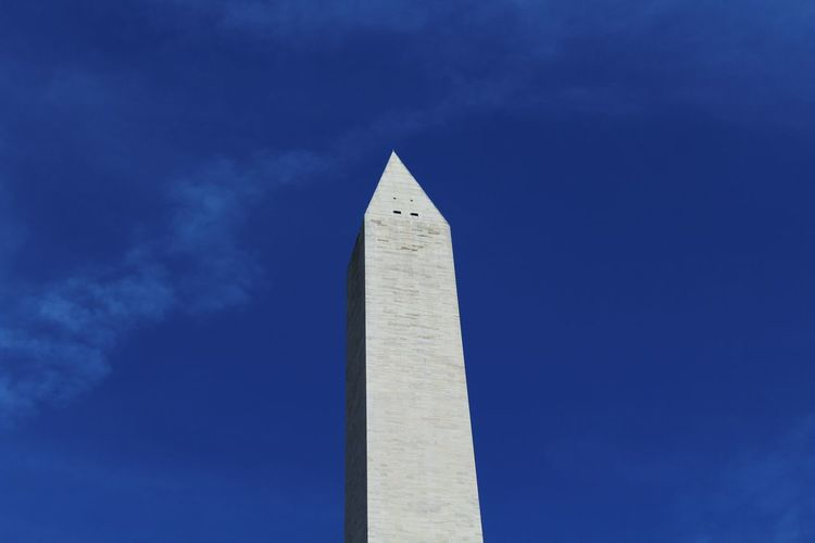 Low angle view of washington monument