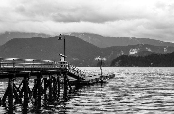 Deep Cove Vancouver Mountain Range Mountain Lake Scenics Nature Landscape Beauty In Nature Outdoors Sky Day Black&white EyeEmNewHere Enjoy The New Normal Walking Around The Natural World My Favorite Photo Lost In The Landscape Sea And Sky The Week On EyeEm Popularphotos Check This Out Beauty In Nature Seascape Photography Connected By Travel Black And White Friday An Eye For Travel