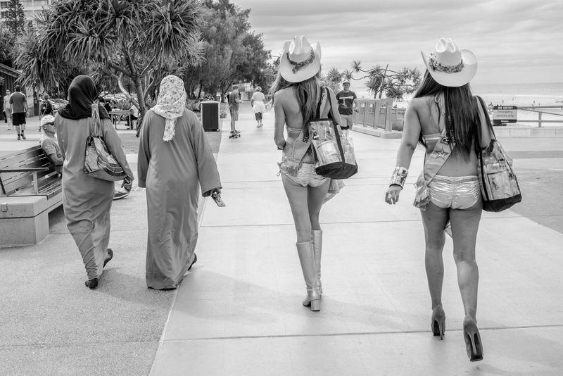 The Street Photographer - 2016 EyeEm Awards Meter Maids Surfers Paradise, Australia Moslem women