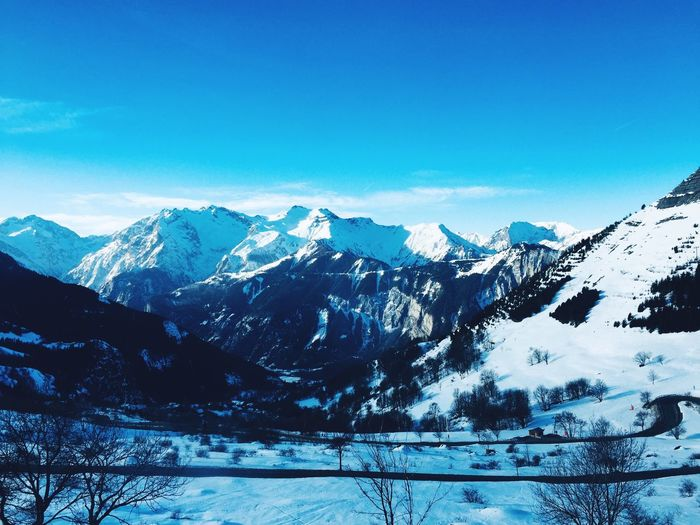 The 21 turns EyeEm Selects Mountain Sky Scenics - Nature Beauty In Nature Winter Cold Temperature Day Mountain Range Snowcapped Mountain Snow Blue Mountain Peak Environment Non-urban Scene Landscape Outdoors