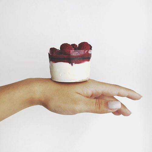 Yoghurt cake with raspberries Frozen Raspberries Raspberry Cake Yogurt Human Hand Human Body Part Sweet Food Food And Drink Food Holding Indulgence White Background Dessert One Person Studio Shot Human Finger Unhealthy Eating Ready-to-eat Temptation Freshness Close-up Indoors  Day Adult EyeEmNewHere