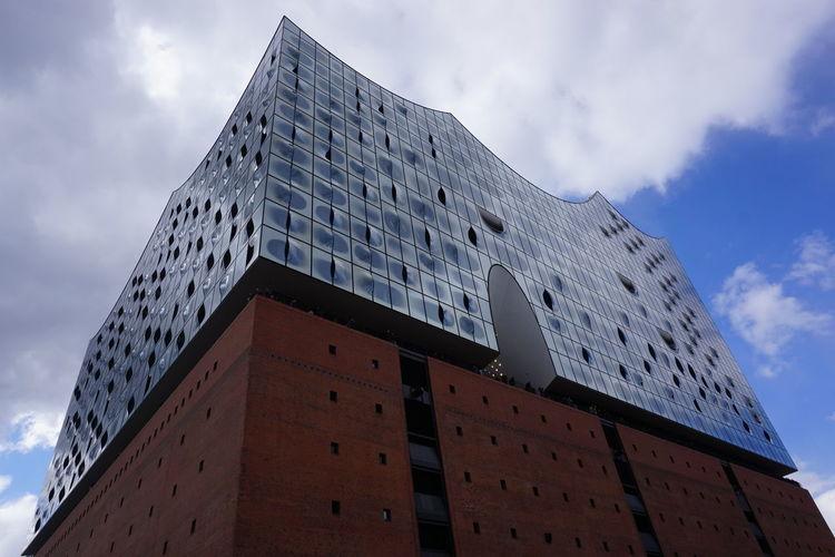Culture Architecture Built Structure Cloud - Sky Cultural Events Elbphilharmonie Modern No People Outdoors
