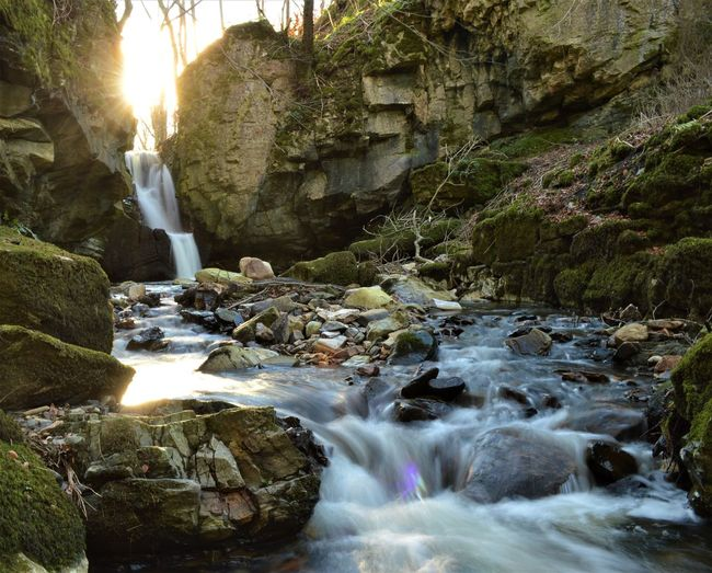 Beauty In Nature Falls Of Tarnash Flowing Water Keith Motion Natural Beauty Outdoors Rocks Scotland Slow Shutter Sun Tranquility Water Waterfall EyeEmNewHere The Great Outdoors - 2017 EyeEm Awards Lost In The Landscape