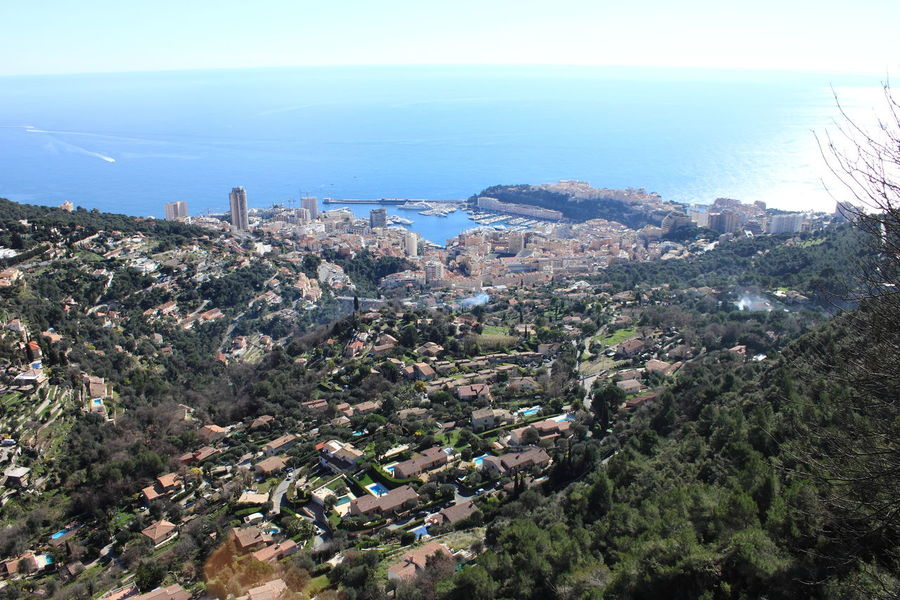 Aerial View Architecture Blue Built Structure City Cityscape Coastline Day Elevated View EyeEm Landscape Horizon Over Water Mode Of Transport Monaco Nature No People Ocean Outdoors Residential Building Residential District Scenics Sea Sky Town Travel Water