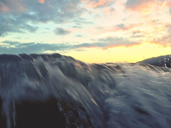 Tide w/ Sunset and Mavericks Ocean in HongKong Capturing Motion