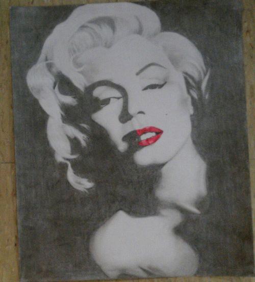 My Drawing Of Marilyn Monroe