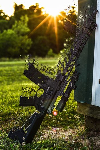 Suns out guns out Grass Sunlight Nature Outdoors Sunset_collection Photoshop Photoshop Edit Ar15 Leupold Optics Smith And Wesson