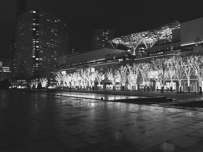 Discover Your City Yokohama City Night Monochrome Black And White Urban Landscape