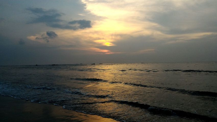 beautiful beach Sea Beach Sunset Water Nature Cloud - Sky Sun Scenics Beauty In Nature Landscape Travel Destinations Sky Horizon Over Water Outdoors Sand No People Reflection Vacations