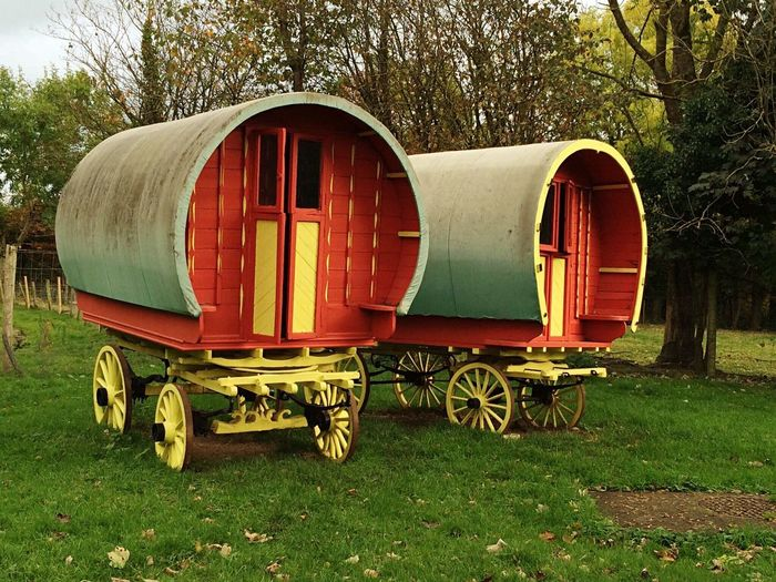Ireland Outdoors Nature No People County Clare caravans travellers gypsy vans