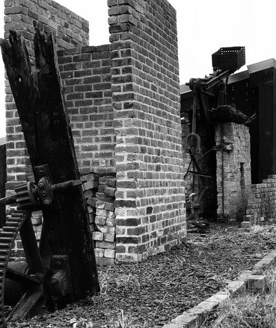 Built Structure Brick Wall Blackandwhite No People Building Exterior Industry Machinery Saltmine
