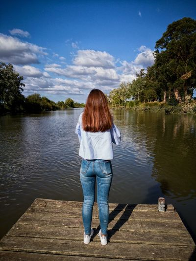 All so quiet. Part 2 Nature Girl River Tejo Tejo River HuaweiP9 Huaweiphotography Huawei P9 Leica Huawei P9 Photos HuaweiP9Photography Cloudy Sky Azambuja Your Ticket To Europe EyeEmNewHere Beauty In Nature Tranquility Sky Reflection Cloud - Sky Water Tree Daughter Proud Father The Week On EyeEm