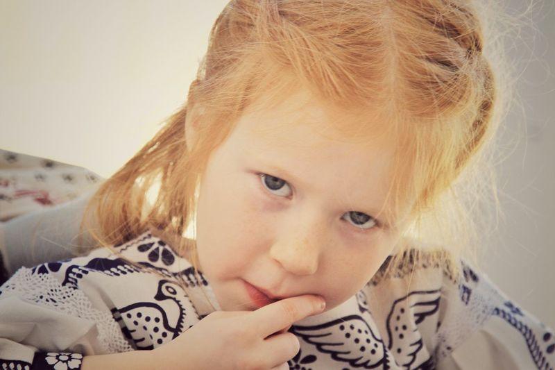 Рыжая девочка дети портрет традиция русская