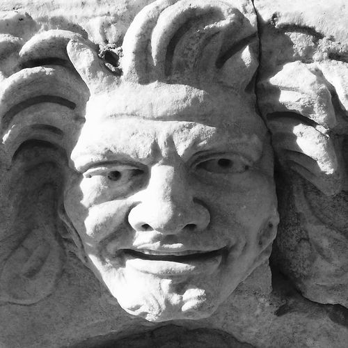 Stone faces 2 in Turkey Stone Art Blackandwhite Travel Photography Old Buildings Close-up stone face Smiling Face