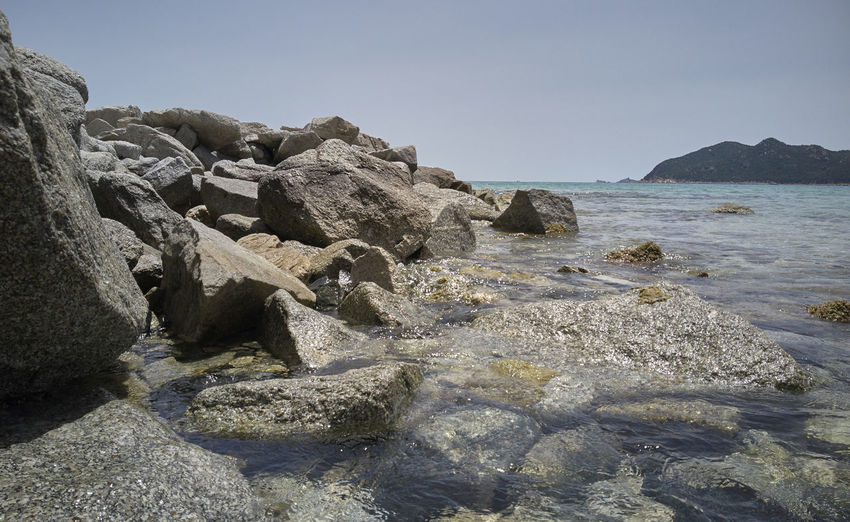Beach Beauty In Nature Clear Sky Day Land Nature No People Non-urban Scene Outdoors Rock Rock - Object Rock Formation Rocky Coastline Scenics - Nature Sea Sky Solid Tranquil Scene Tranquility Water