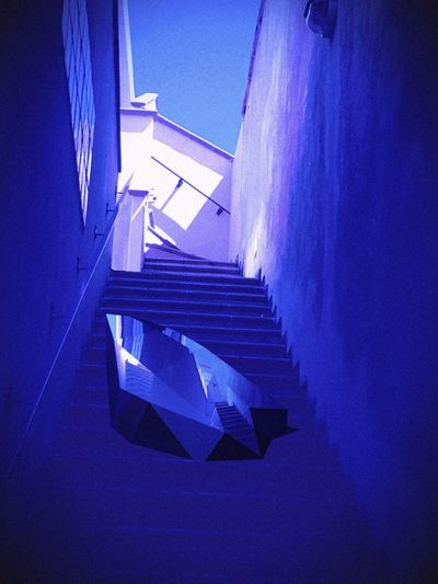 Object From Nowhere Colors Color Palette Geometry Geometrical Patterns Pivotal Ideas Colour Of Life Framed Architecture Street Art Stairs Object
