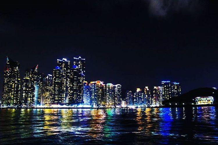 🌈 바다무지개 부산여행 광안리 해운대 미린시티 누리마루 바다 야경 반영 톡톡부산밴드 빈카메라 Pusan Busan Busancity Korea Gwanganri Travel Haeundae Marinecity Sea Night Bincamera
