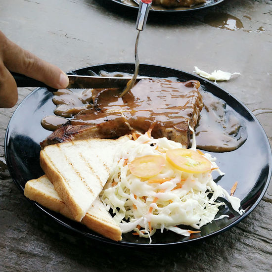 Food That's Me Enjoying Life Happy :) Full Of Life Steaks Pork Chops Knife Plate Of Food Slide Of Bread Vegetables At ร้านท้ายทุ่ง 85/2 หมู่ที่ 2 มะเกลือเก่า สูงเนิน นครราชสีมา ไthailand